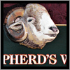 carved and hand painted rams head